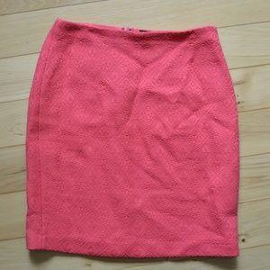 banana republic coral pink pencil skirt 4 2017
